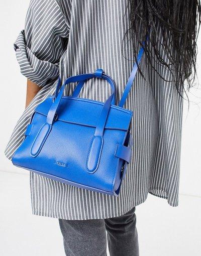 Borsa Blu donna Borsa a tracolla di pelle blu elettrico - Sophie - Reiss