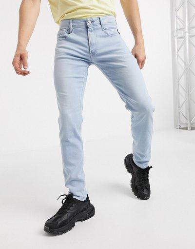 Jeans Blu uomo Jeans slim lavaggio chiaro - Anbass - Replay - Blu
