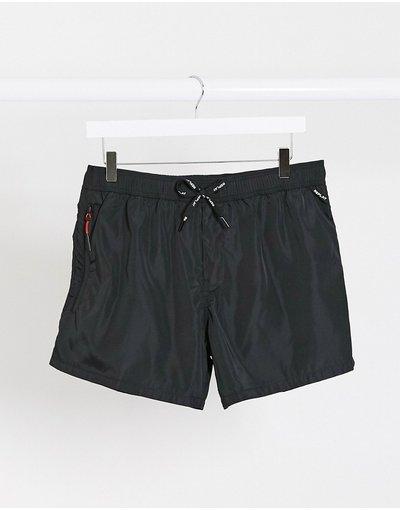 Costume Nero uomo Pantaloncini da bagno tinta unita neri - Replay - Nero