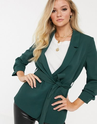 Verde donna Blazer con cintura verde - River Island