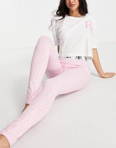 Pigiami Rosa donna Completo pigiama rosa con monogramma - River Island