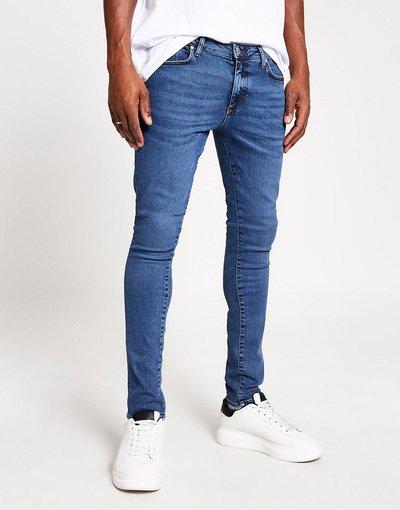 Jeans Blu uomo Jeans super skinny blu scuro - River Island