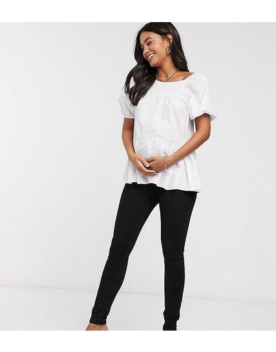 Maternita Nero donna Jeans sotto il pancione neri - River Island Maternity - Nero
