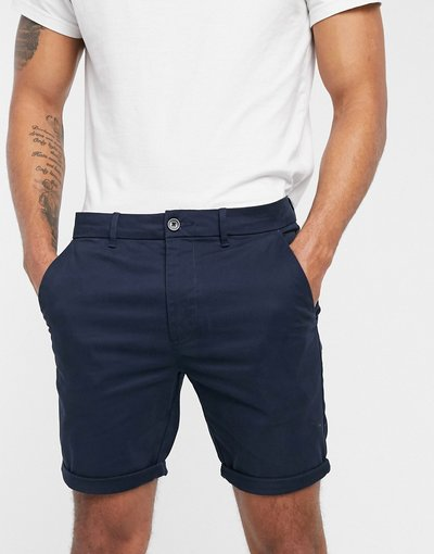 Navy uomo Pantaloncini blu navy - River Island