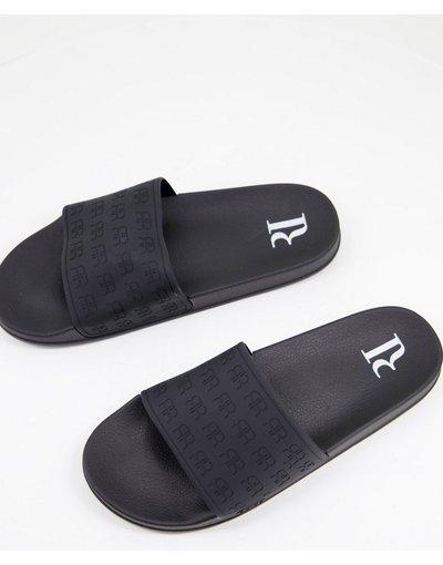 Novita Nero uomo Sliders nere con logo - River Island - RR - Nero