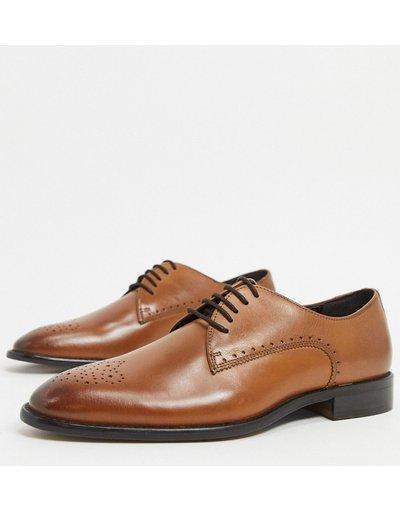 Scarpa elegante Marrone uomo Scarpe derby in pelle marroni - River Island - Marrone