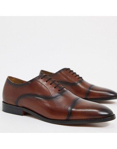 Scarpa elegante Marrone uomo Scarpe Oxford eleganti marroni con punta - River Island - Marrone