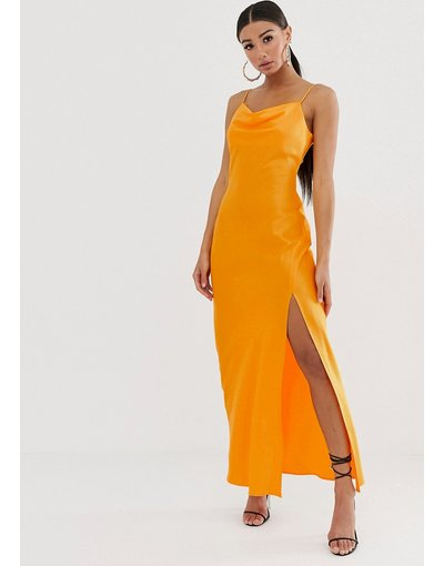 Arancione donna Vestito sottoveste arancione fluo - River Island