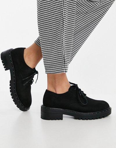 Scarpa bassa Nero donna Scarpe stringate in camoscio sintetico nero - Leona - Schuh