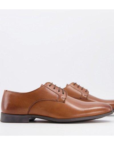 Scarpa elegante Cuoio uomo Scarpe Derby in pelle color cuoio - Schuh - Remi moda abbigliamento