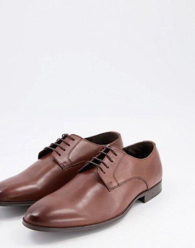 Scarpa elegante Marrone uomo Scarpe Derby in pelle marrone - Schuh - Remi