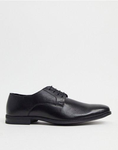 Scarpa elegante Nero uomo Scarpe Derby in pelle nera - Schuh - Remi - Nero