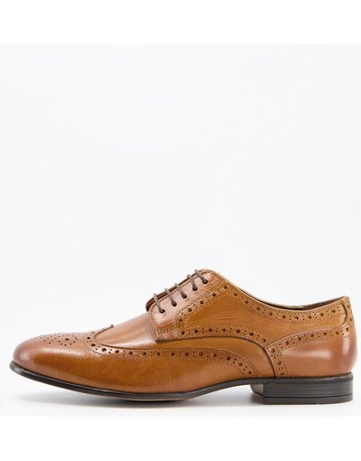 Scarpa elegante Cuoio uomo Scarpe brogue in pelle color cuoio - Rowen - Schuh