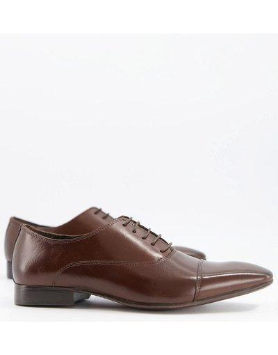 Scarpa elegante Marrone uomo Scarpe in pelle marrone con punta rivestita - Russel - Schuh