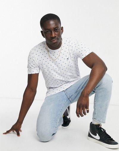 T-shirt Bianco uomo shirt girocollo a pois - Scotch&Soda - Bianco - T