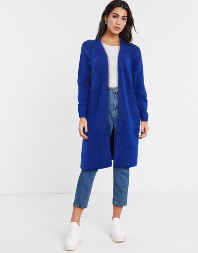 Navy donna Cardigan blu lavorato a maniche lunghe - Selected - Anna - Navy