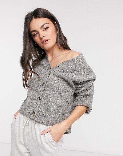 Grigio donna Cardigan grigio in lana - Selected Femme