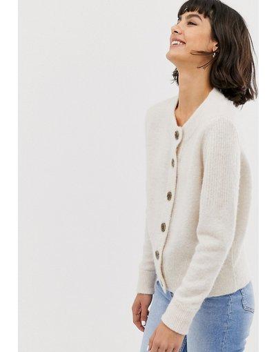 Beige donna Cardigan in maglia a maniche lunghe - Selected Femme - Beige