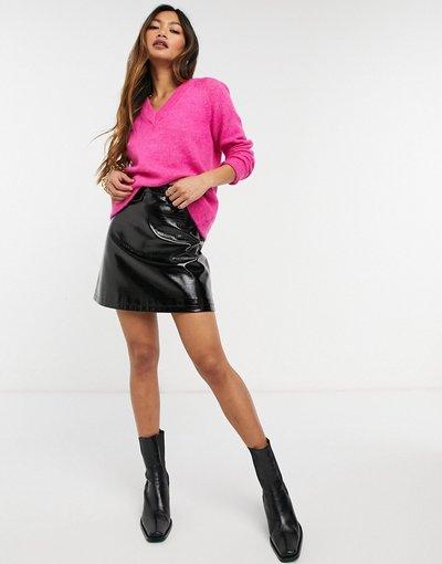 Rosa donna Maglione con scollo a V rosa - Selected Femme