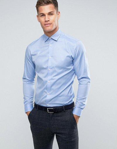 Blu uomo Camicia slim elegante azzurra facile da stirare - Selected Homme - Blu