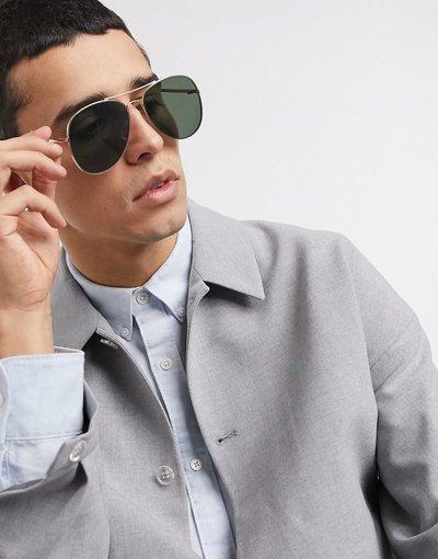 Occhiali Oro uomo Occhiali da sole modello aviatore - Selected Homme - Oro