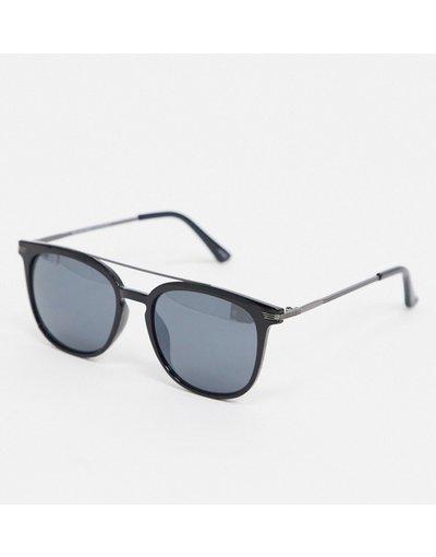 Occhiali Nero uomo Occhiali da sole rétro con barretta - Selected Homme - Nero