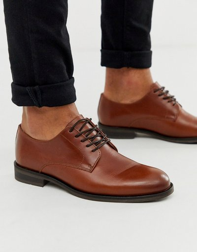 Scarpa elegante Marrone uomo Scarpe stringate in cuoio - Selected Homme - Marrone