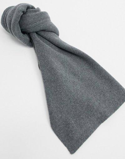 Grigio uomo Sciarpa in cotone lavorato a maglia grigia - Selected Homme - Grigio