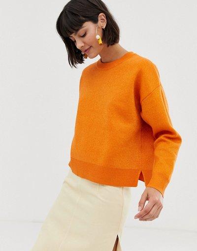 Arancione donna Selected - Maglione - Arancione