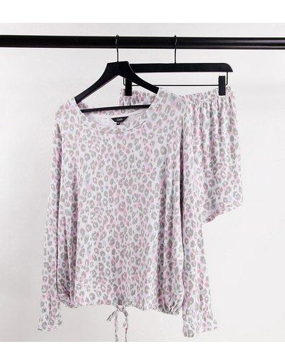 Pigiami Multicolore donna Completo pigiama con pantaloncini e stampa animalier - Multicolore - Simply Be
