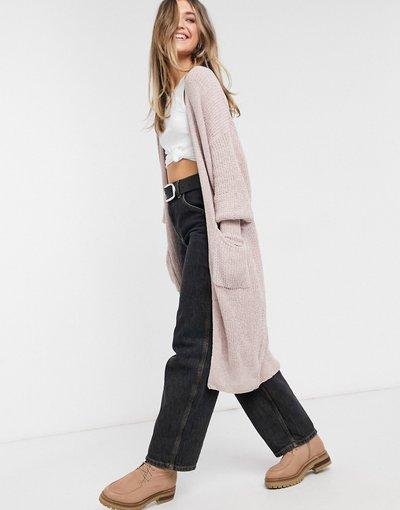 Rosa donna Cardigan in maglia rosa polvere - Nettie - SNDYS