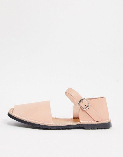 Sandali Rosa uomo Sandali minorchine in pelle con cinturino alla caviglia rosa - Solillas