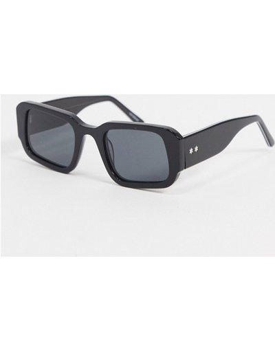 Occhiali Nero uomo Occhiali da sole rétro angolari neri - Cut Five - Spitfire - Nero