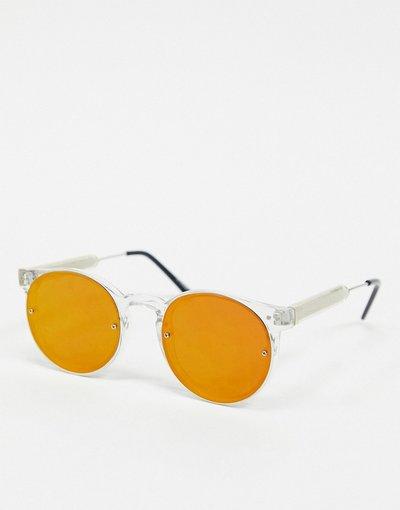 Occhiali Trasparente uomo Occhiali da sole rotondi trasparenti con lenti rosse a specchio - Post Punk - Trasparente - Spitfire