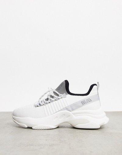 Sneackers Bianco uomo Sneakers da corsa stringate bianche - Steve Madden - Macdad - Bianco