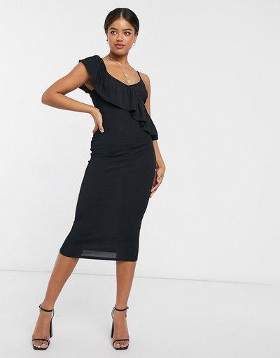 Nero donna Vestito midi nero - Style Cheat - Becca