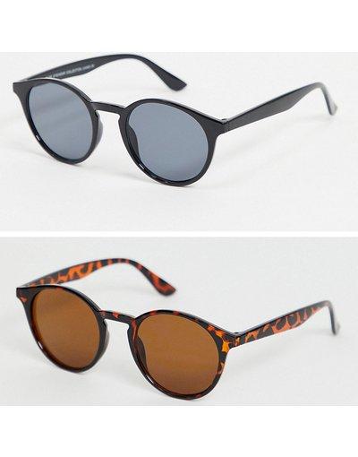 Occhiali Multicolore uomo Confezione da 2 occhiali da sole rotondi - Multicolore - SVNX