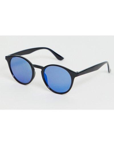 Occhiali Nero uomo Occhiali da sole rétro con lenti colorate - SVNX - Nero