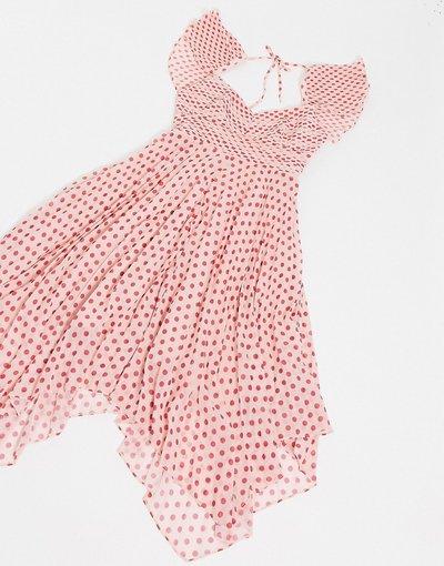 Eleganti pantaloni Rosa donna Vestito corto a pois fucsia - Power of Love - Talulah - Rosa