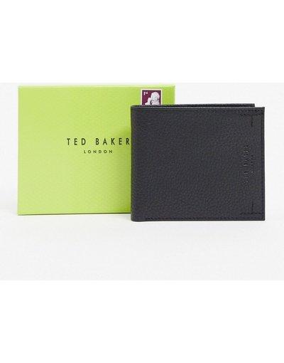 Portafoglio Nero uomo Portafoglio a libro nero con fodera a contrasto e protezione da RFID - Ted Baker - Curence