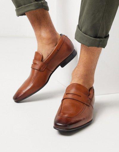 Scarpa elegante Cuoio uomo Mocassini in pelle color cuoio - Ted Baker - Galle