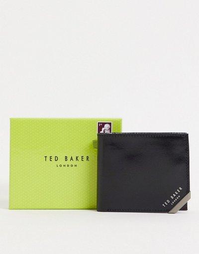 Portafoglio Nero uomo Portafoglio nero con angoli in metallo - Ted Baker - Koring