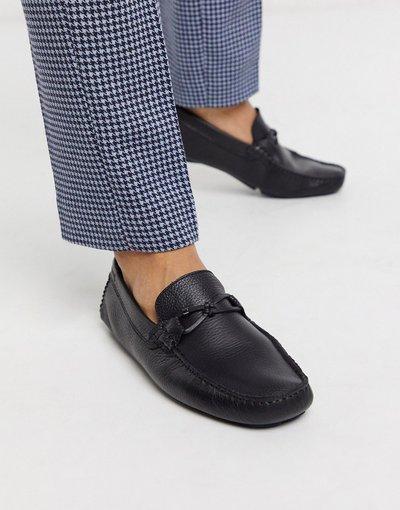 Scarpa elegante Nero uomo Mocassini in pelle nera - Ted Baker - Ottro - Nero