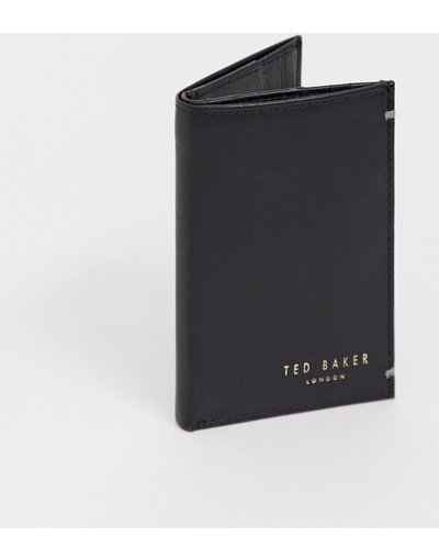 Portafoglio Nero uomo Portafoglio a libro in pelle nera - Ted Baker - Zacks - Nero