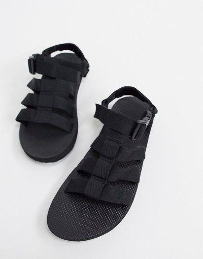 Sandali Nero uomo Sandali con fibbia neri - Teva - Nero