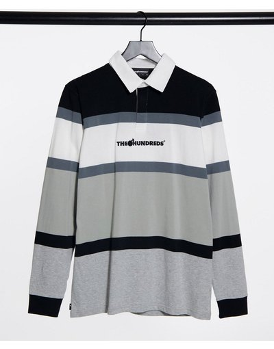 Novita Nero uomo Camicia da rugby nero/grigio - The Hundreds - Stanford