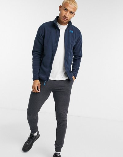 Navy uomo Felpa con zip blu navy - The North Face - 100 Glacier