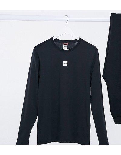T-shirt Nero donna shirt a maniche lunghe con logo centrale nera - Esclusiva ASOS - The North Face - Nero - T