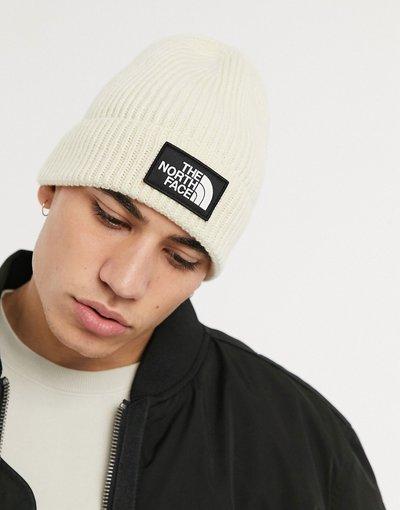 Cappello Crema uomo Berretto con risvolto ed etichetta con logo beige - The North Face TNF - Crema