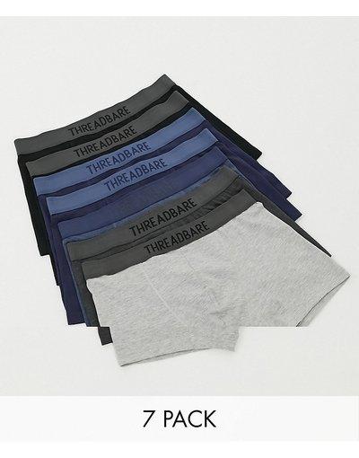 Calze Multicolore uomo Confezione da 7 boxer aderenti multi - Threadbare - Multicolore